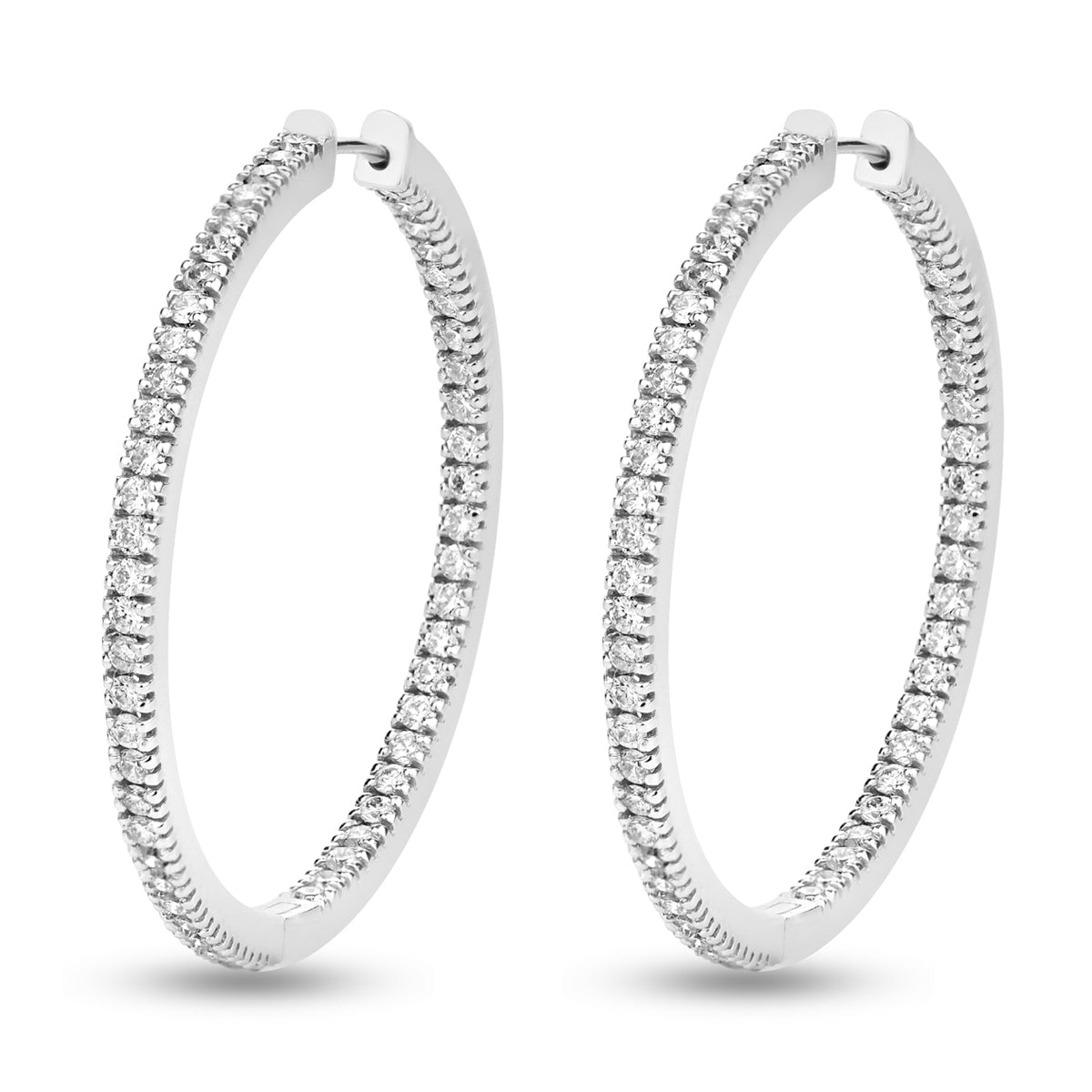 Sleek White gold HOOPS