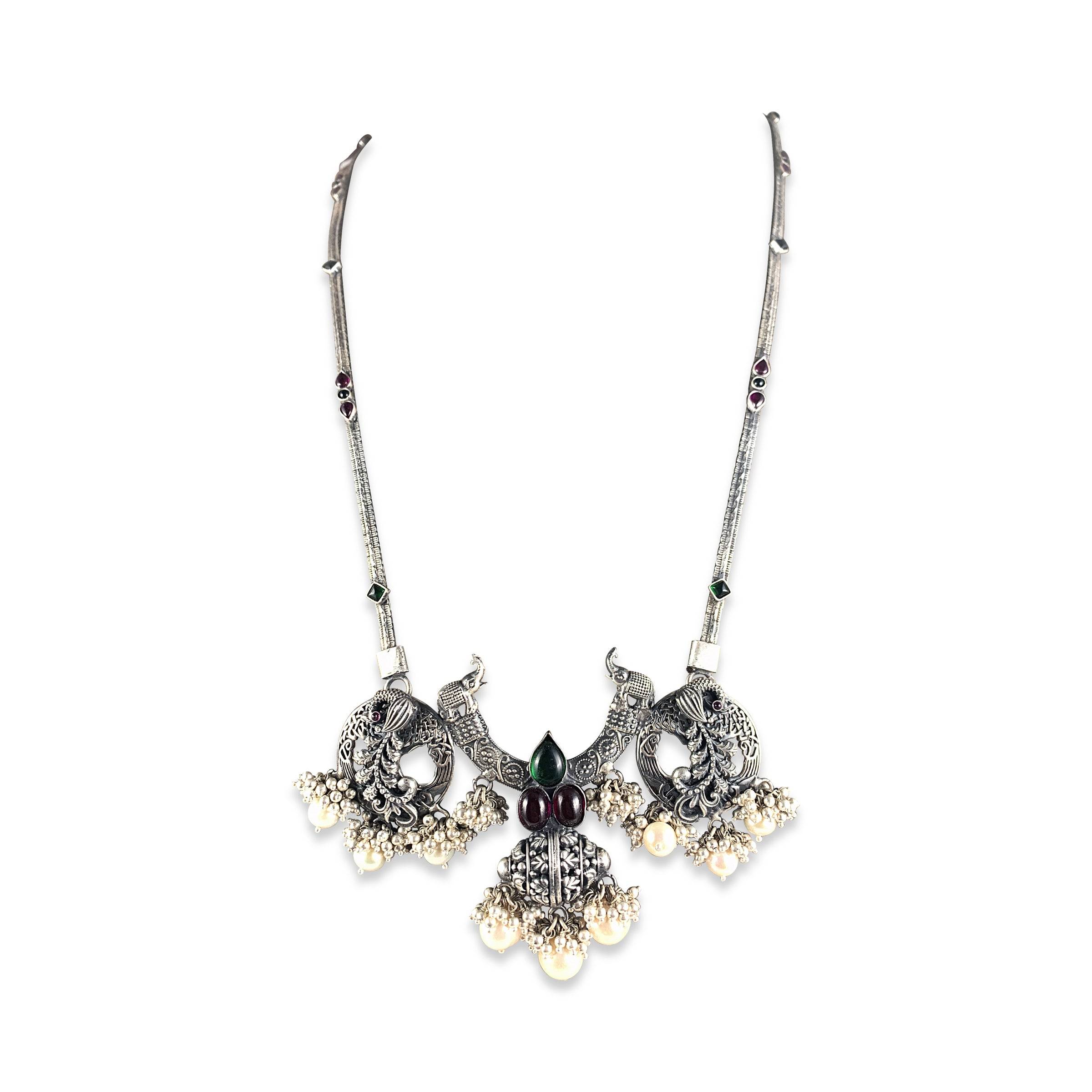 Ananya Tribal Pendant with Pearls