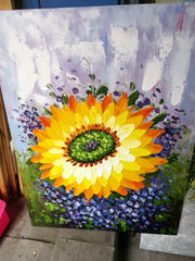 Sunflower Hand Painted Canvas Works from Canvasgone
