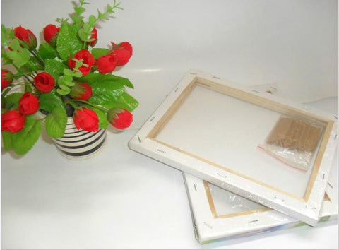 hand painted canvas art frame wooden | Canvasgone