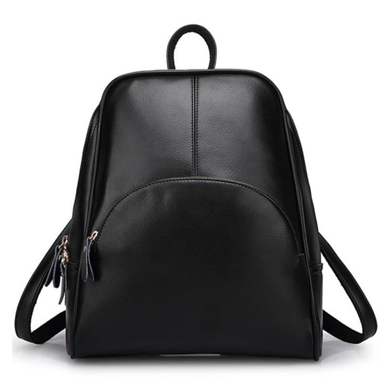 Smooth PU Zipper Backpack