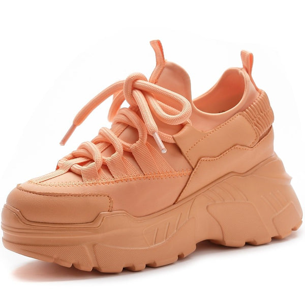 Chunky Platform Lace Up Sneakers