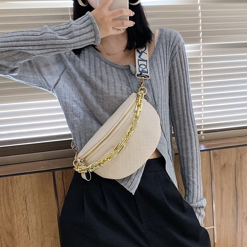 PU Bucket Bag & Gold Chain Body Bag