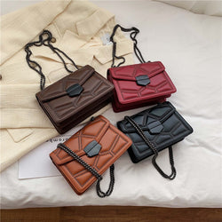 PU Cross Body Bag With Chain