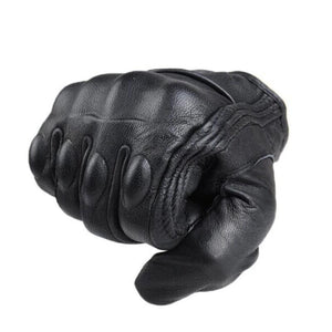 Motorcycle Leather Gloves Non Perforated