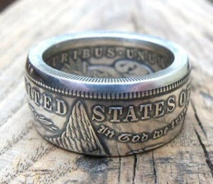 Silver Dollar Coin Ring