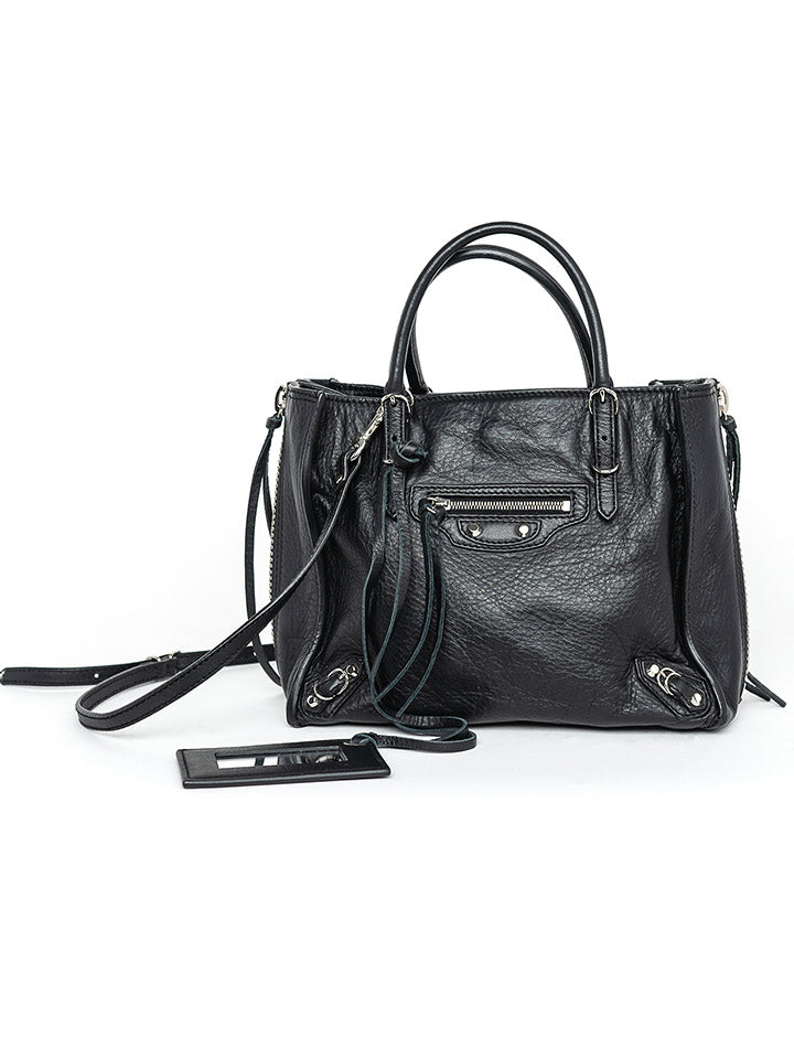 Balenciaga Black Motocross Classic Mini City Bag