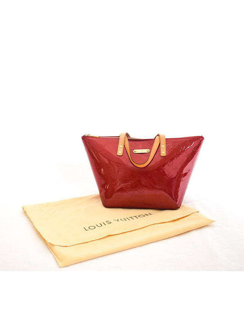 Louis Vuitton Vernis Bellevue Tote Red