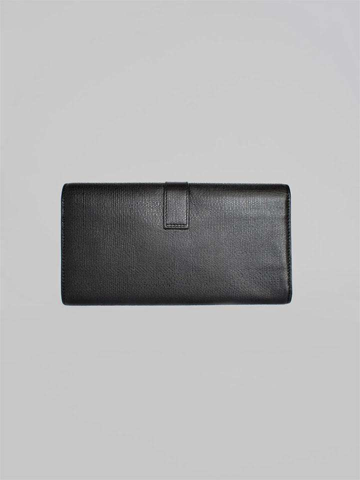 YVES SAINT LAURENT Clutch Wallet Zip Bifold Leather