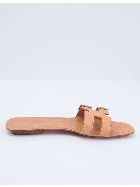 Hermes Leather H Buckled Sandals