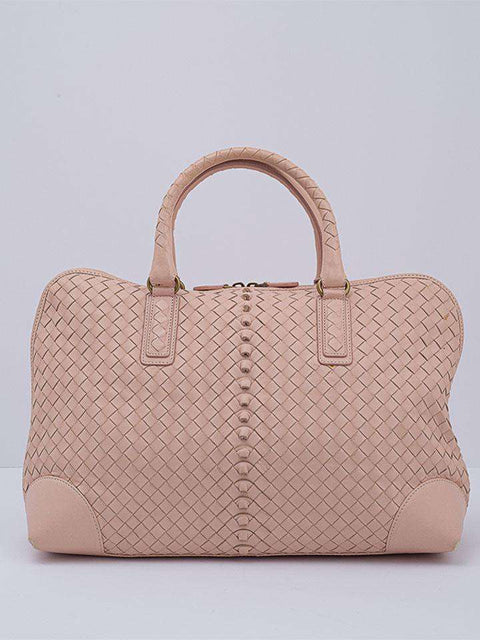Bottega Veneta Blush Intrecciato Leather Bag