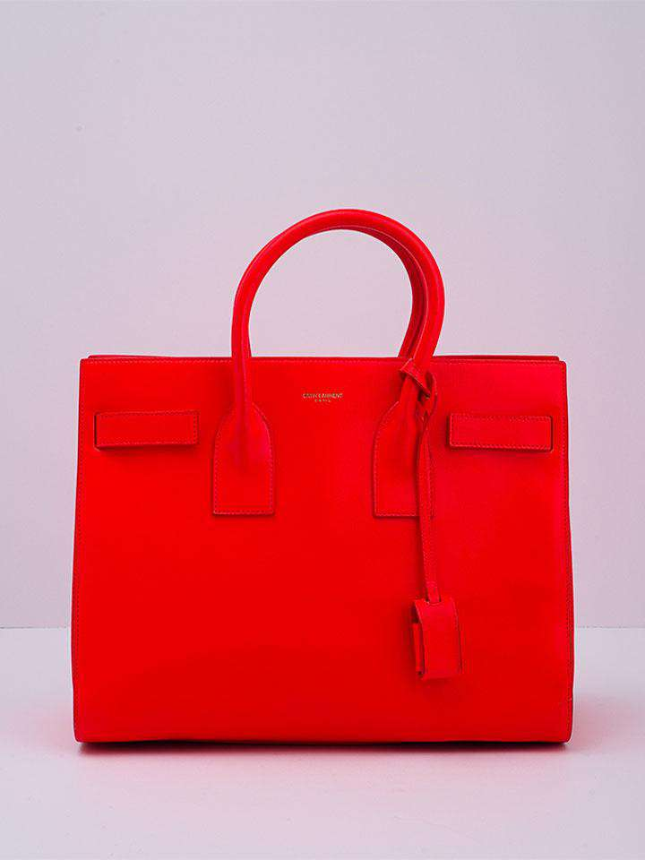 Saint Laurent Fluorescent Orange Sac Du Jour Souple Bag