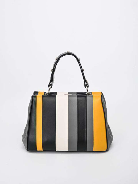 Prada Multicolor Striped Arcade Bag