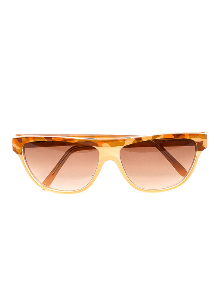 Balenciaga Orange Camo Print Frames Sunglasses