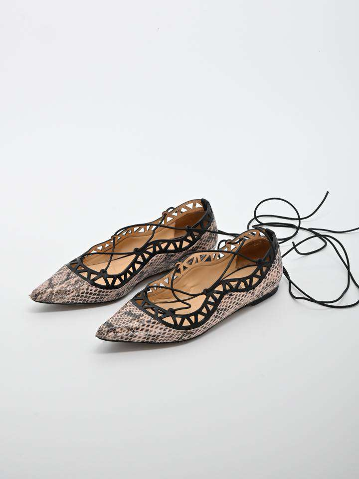 Bionda Castana Embossed Leather Flats