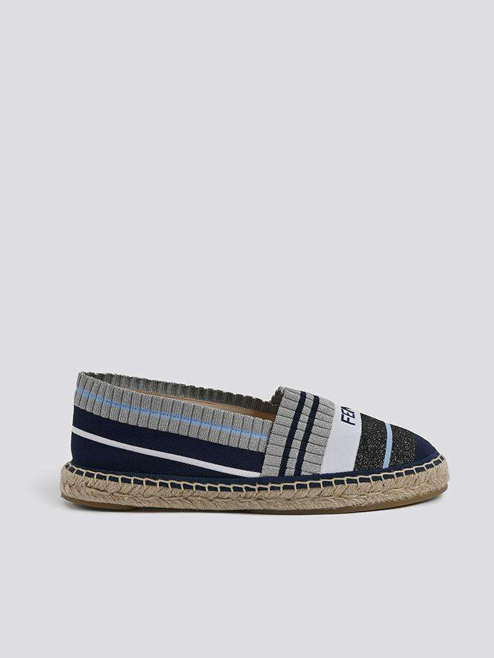 Fendi Metallic Knit Espadrilles