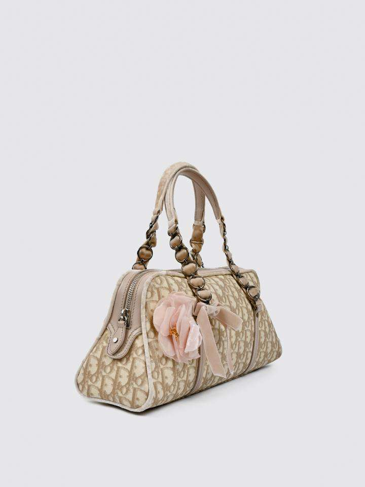 Christian Dior Trotter Romantique Boston Handbag