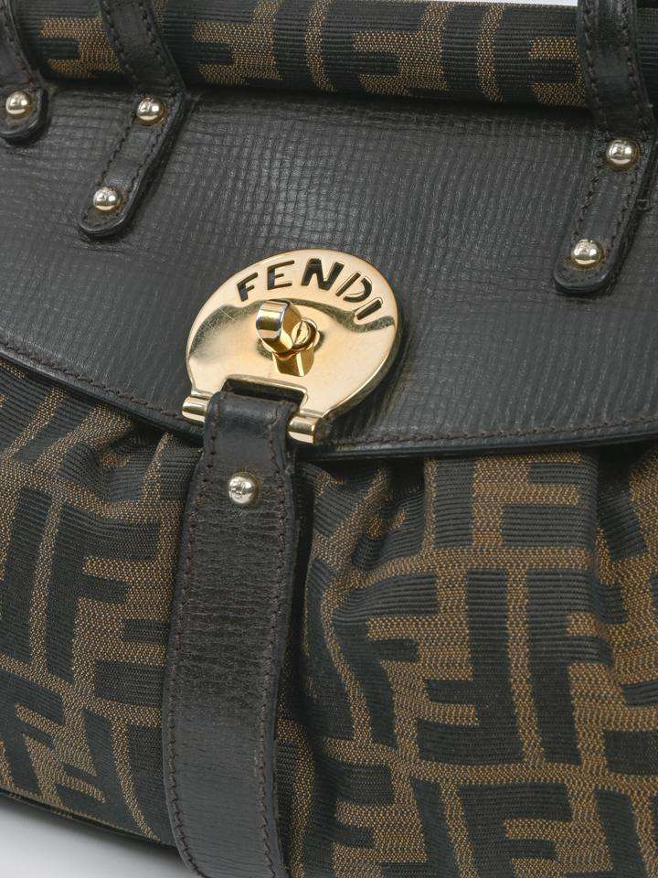 Fendi Mossy Zucca Magic Top Handle Bag