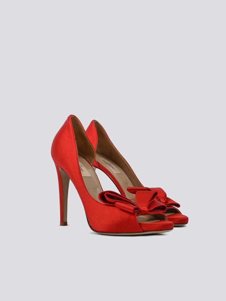 Valentino Bow Accents D'Orsay Pumps
