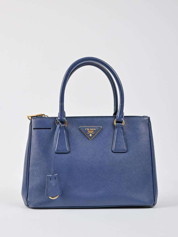 Prada Saffiano Small Double Zip Bag
