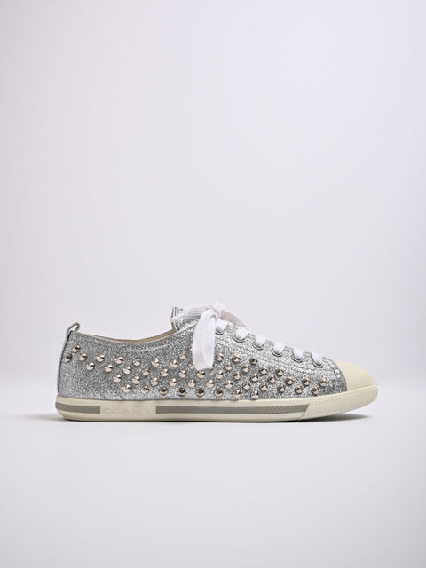 Prada Stud Low Top Sneakers