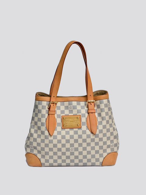 Louis Vuitton Damier Azur Hampstead MM Bag