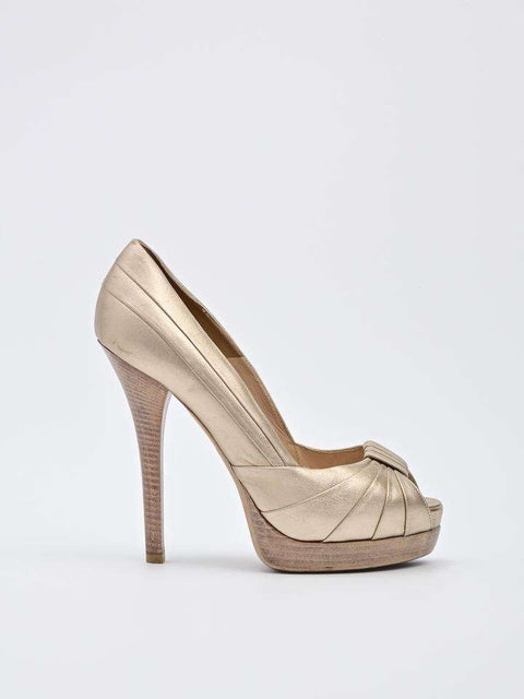 Fendi Open-Toe Pump
