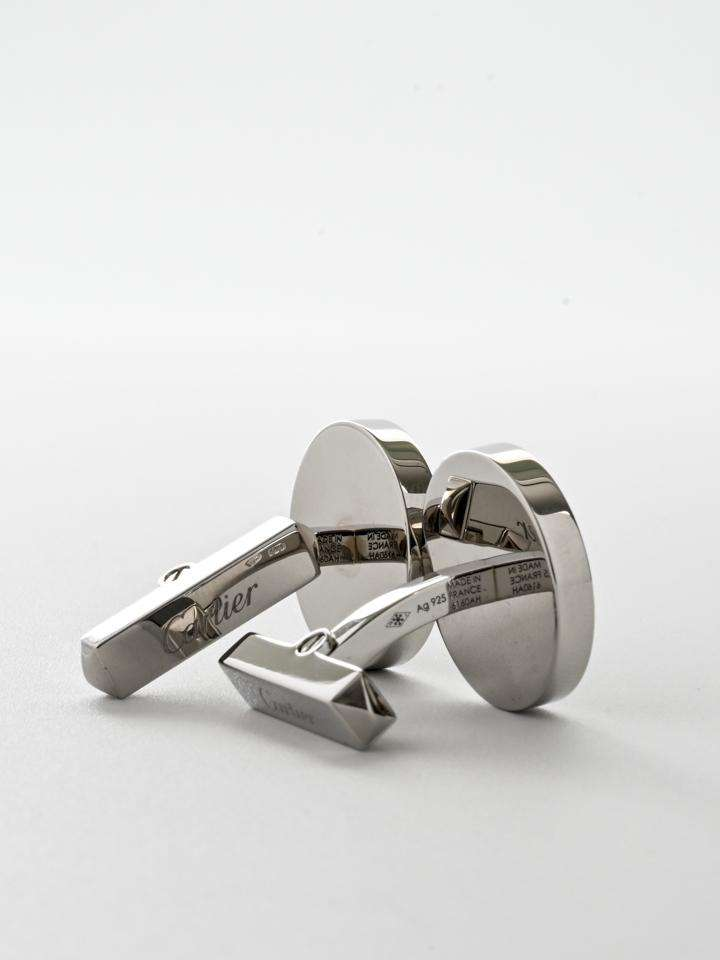 Cartier Double C Logo Cufflinks