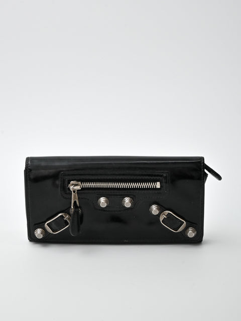 Balenciaga Leather Classic Money Long Wallet