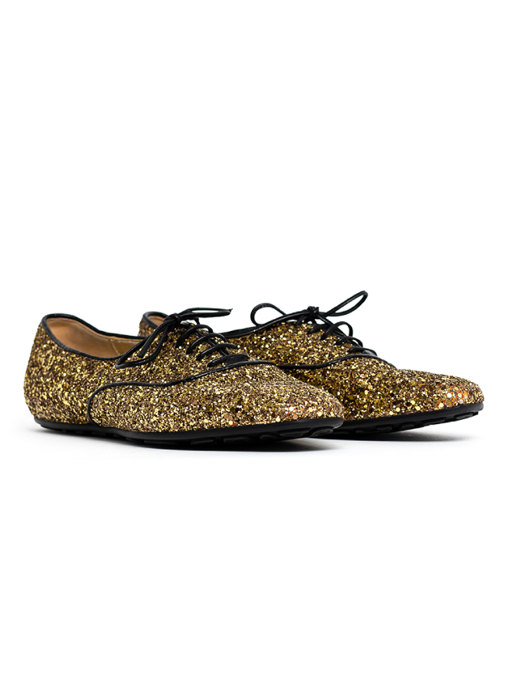 Jimmy Choo Glitter Low-Top Sneakers