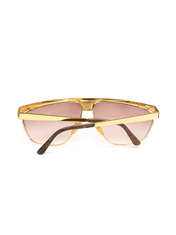 Mirage Gold Ebbed Frame Sunglasses