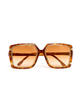 Ted Lapidus Square Tortoise Shell with Gold Details Sunglasses