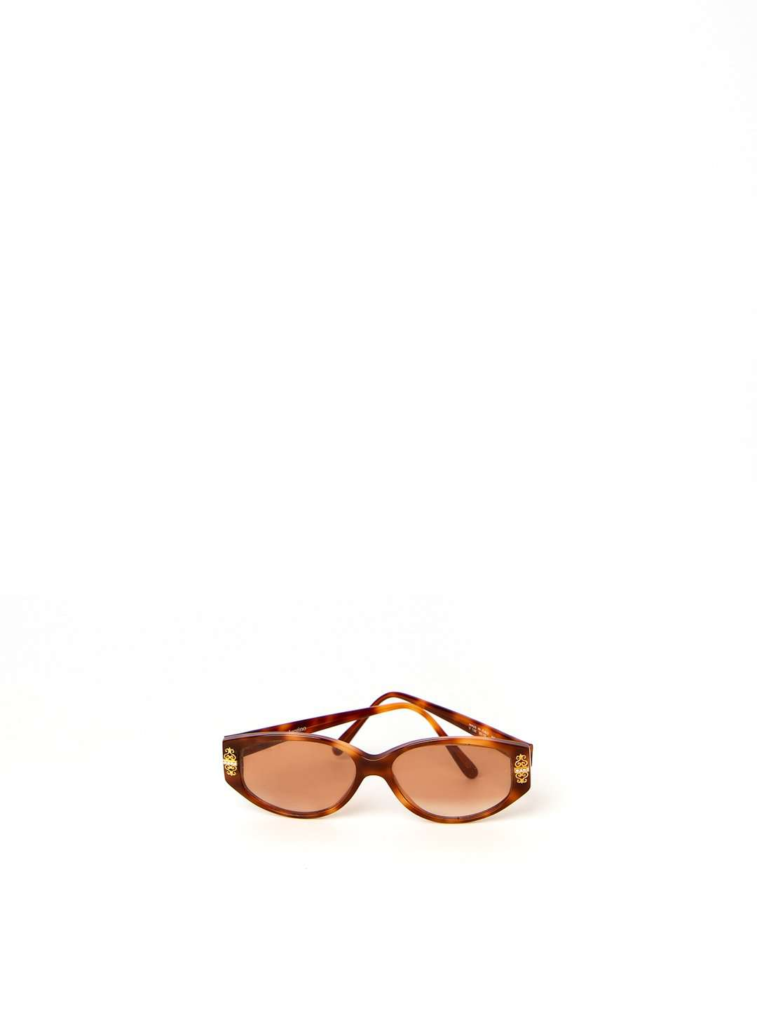 Valentino Tortoise Shell with Gold Pillar Details Sunglasses