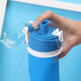 BPA-Free Portable Silicone Sport Squeeze Water Bottle