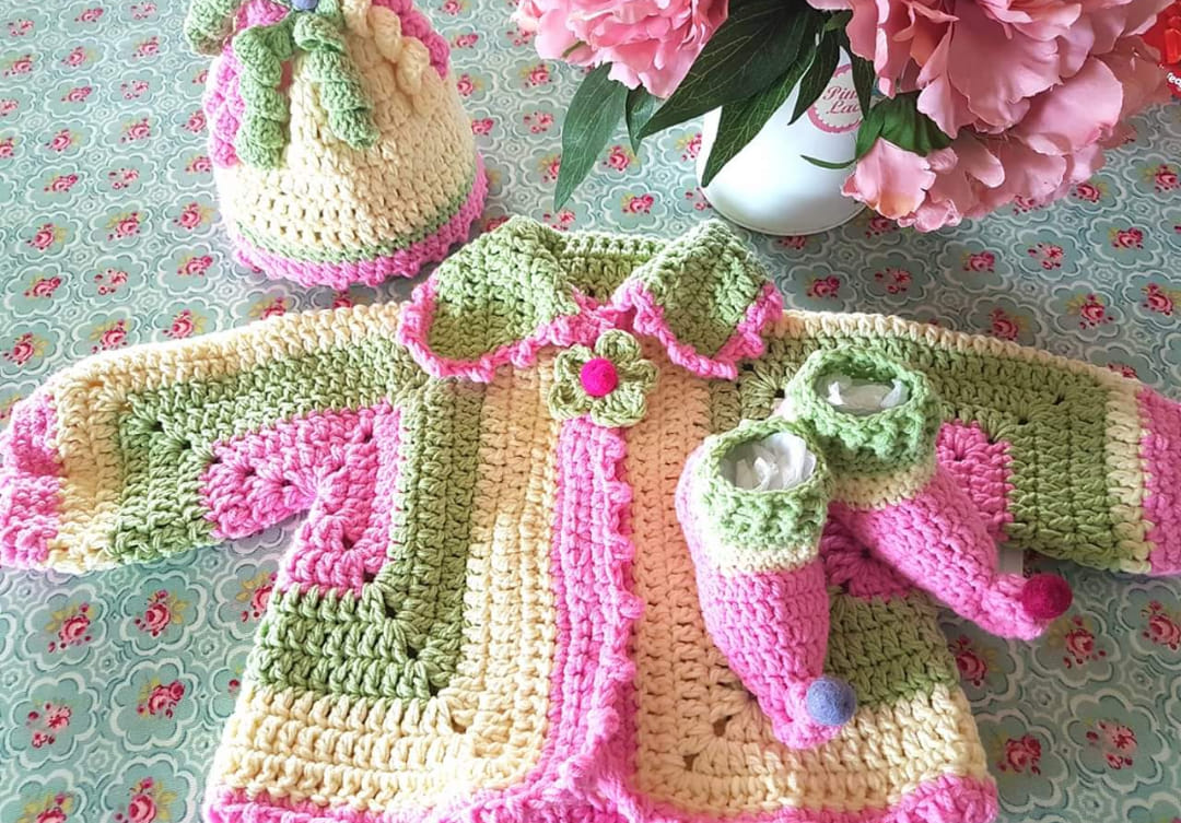 crochet baby bundle