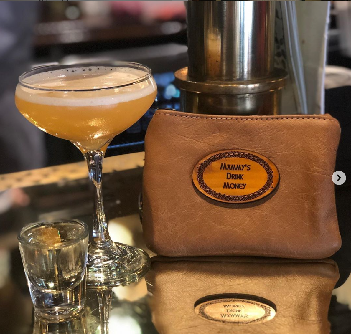 Leather Drinks Purse