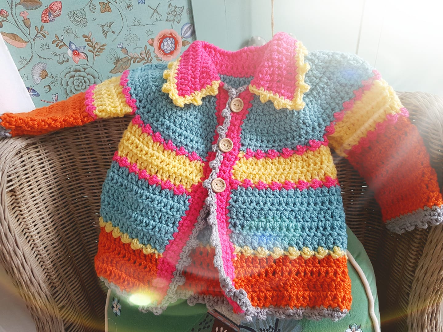 rainbow crochet baby clothes