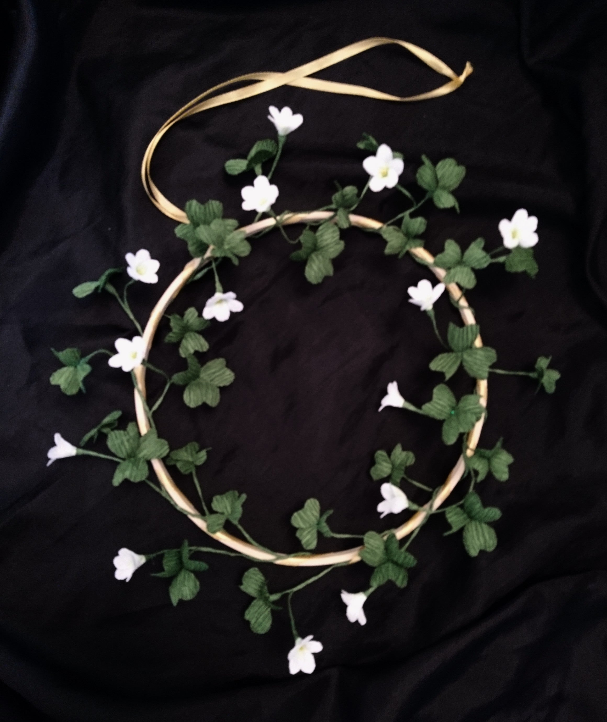 shamrock wreath by handmade paper garden