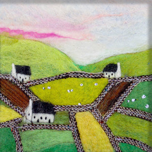 Three Cottages Greeting Card