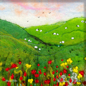 Sheep Hills     Greeting Card