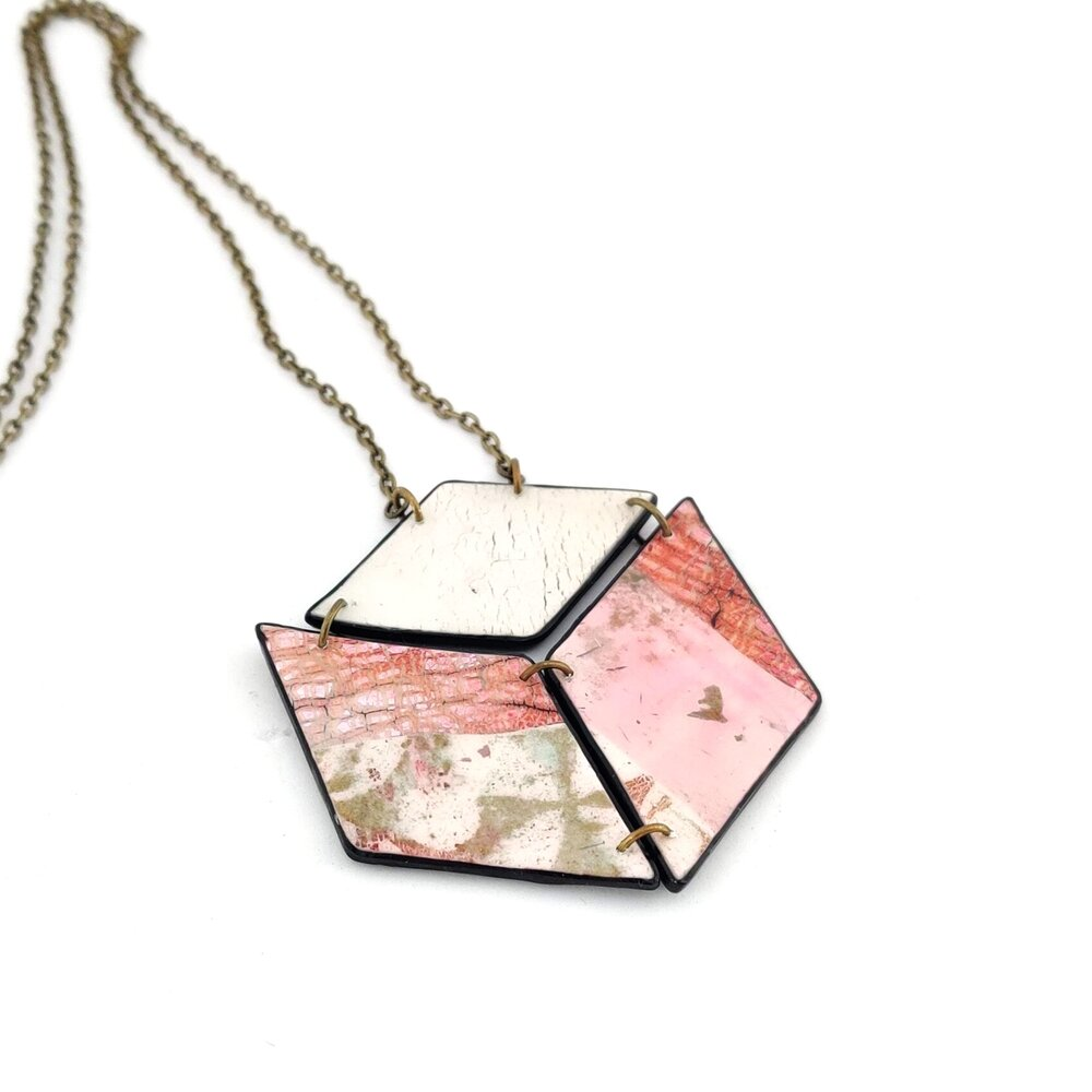 Wild Atlantic Sunset Square Pendant