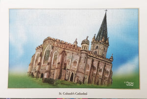 St Columb's Cathedral, Derry framed print small