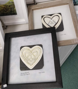 Celtic Hearts Entwined Original Handdrawn Artwork Framed