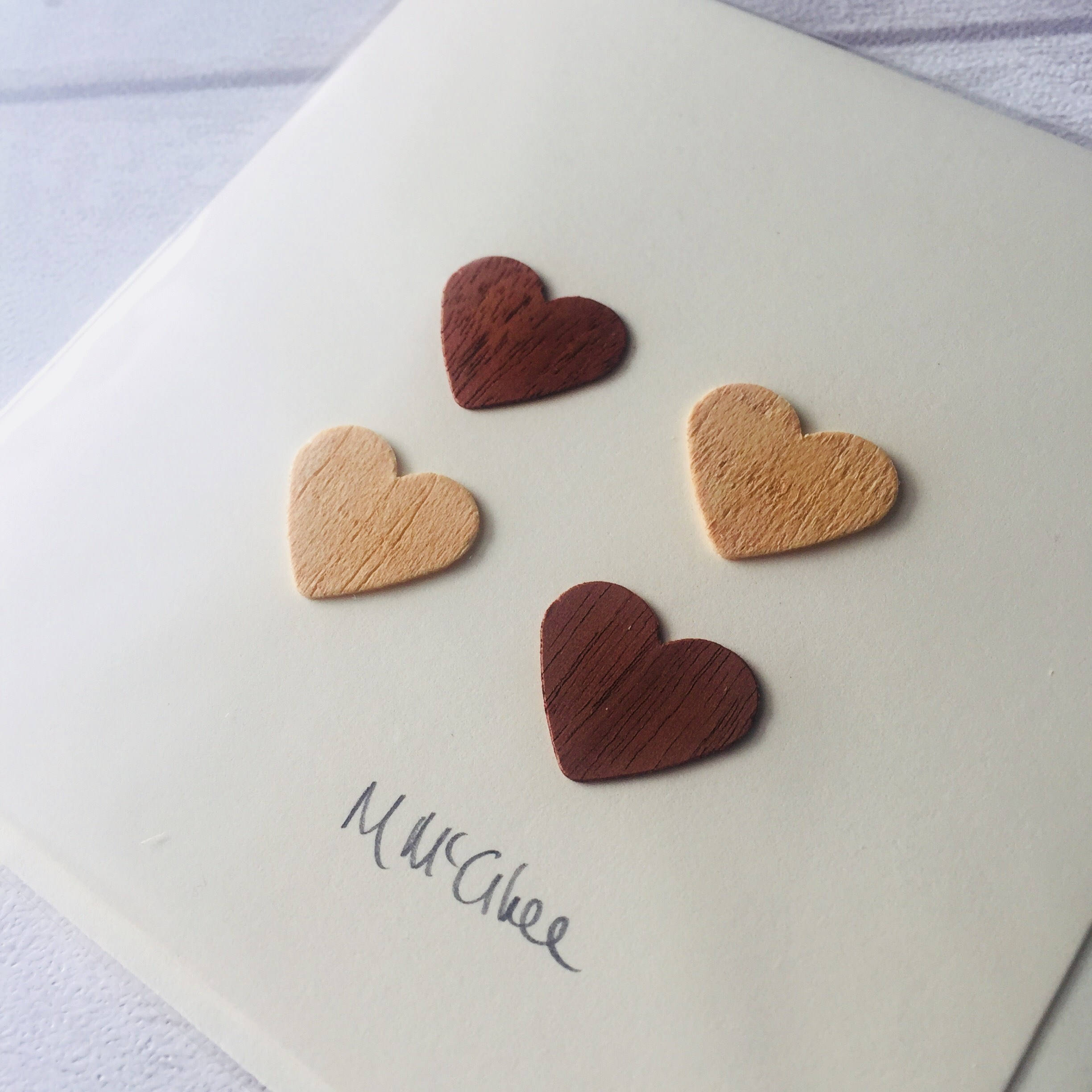 Love Hearts, 4th or 5th Wedding Anniversary, Wedding Card, Friendship Card, Friends, Friendship, Soulmates.