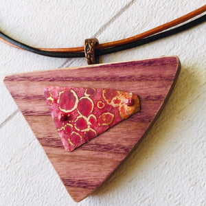 "Patinated Copper Pendant, combined with Co. Tyrone Coloured Ash. The ""Sailing"" Collection."