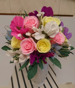 Rainbow Flower Arrangement made from Paper