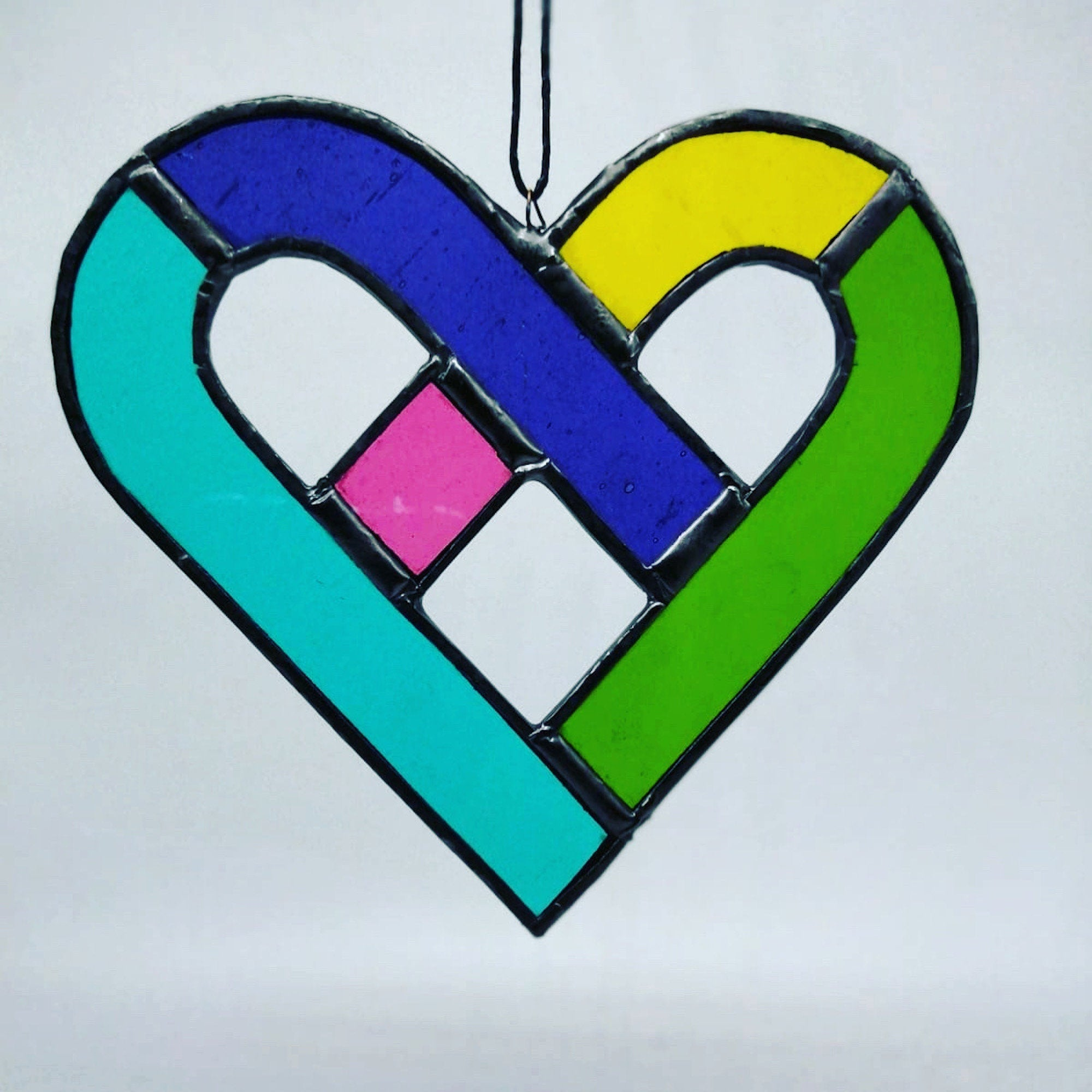Celtic Heart Stained Glass | Rainbow | Sun catcher | Heart shaped | Unique gift | Made in Ireland  | Light catcher | Tiffany glass | Love
