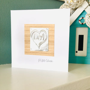 "Dad Greeting Card, a handmade card to say ""hello"" or ""I'm thinking of you""."