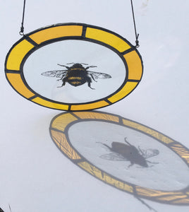 Bee Suncatcher | stained glass bee | Painted glass bee | Bee window hanging | Gifts for bee lovers | Bee gifts | Tiffany glass