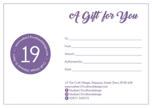 Number 19 Craft & Design Gift Voucher